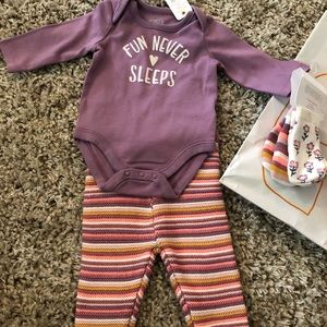 NWT Gymboree girl's outfit with 3 pairs cute socks